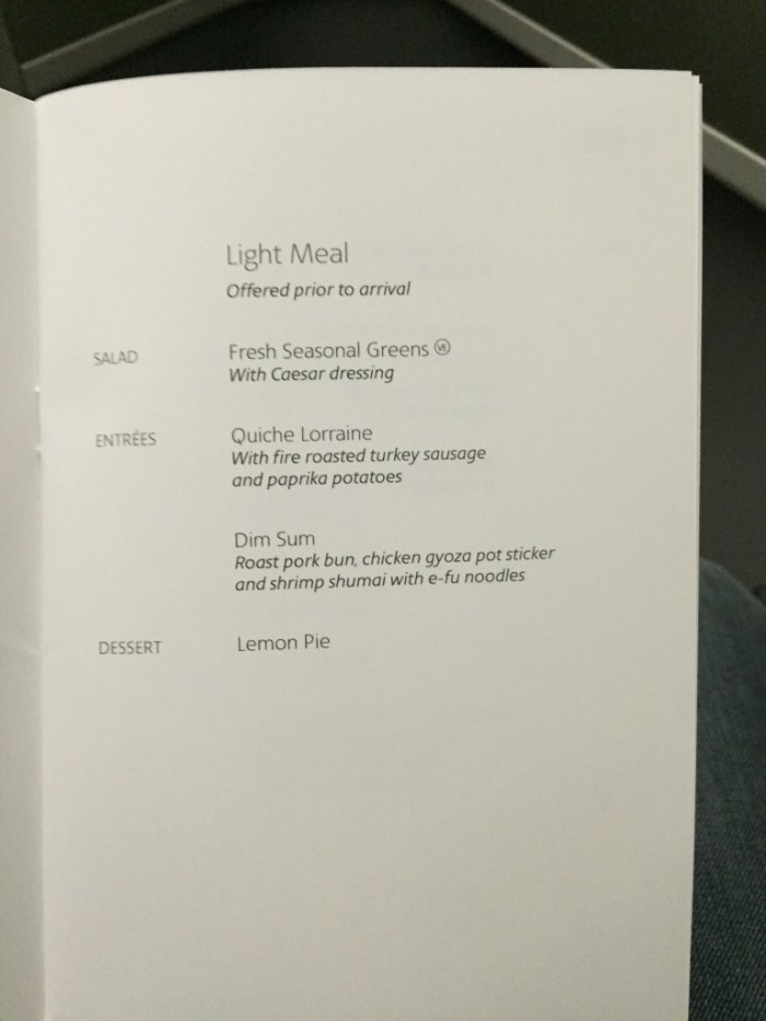 787 J Meal - Snack and Breakfast
