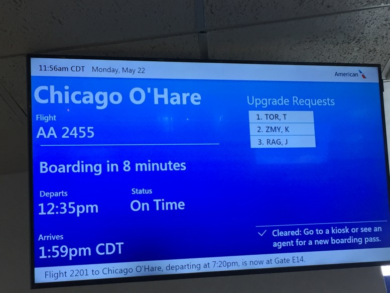 Excellent Chicago Trip American Airlines Minneapolis Chicago