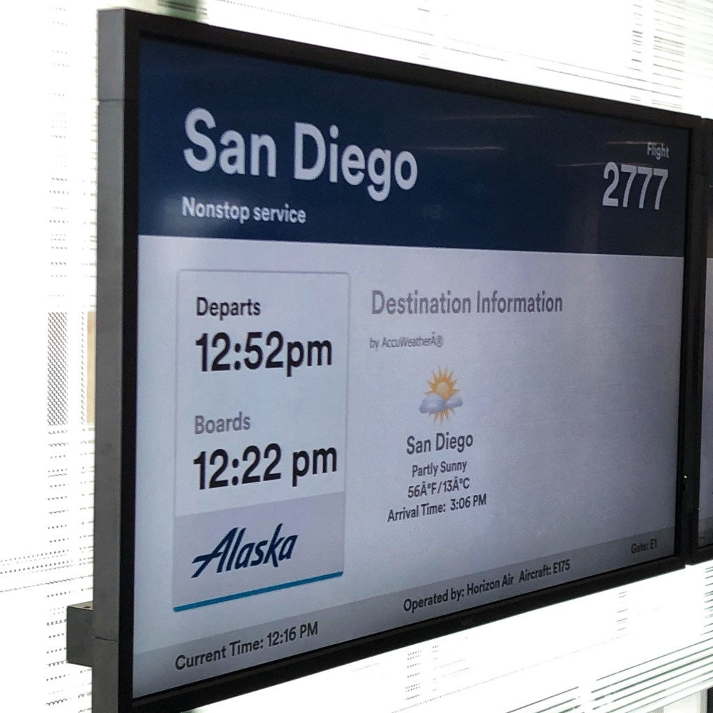 Flying to San Diego via Alaska Airlines
