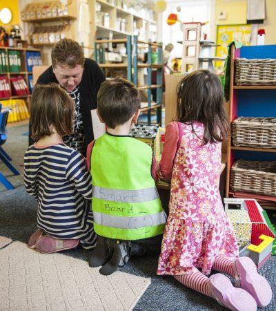 children learning in nursery