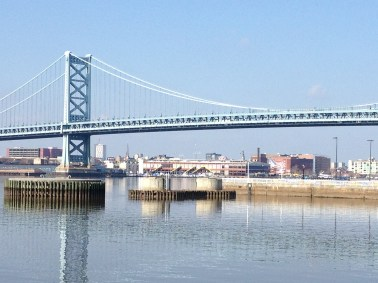 Benjamin Franklin Bridge, NJ to PA
