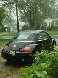 Out your driveway and into the rain...