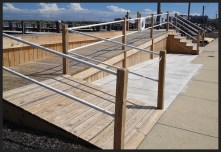 Deck and railings at in Brigantine