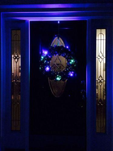 Christmas door windows