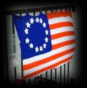 Colls crochet flag