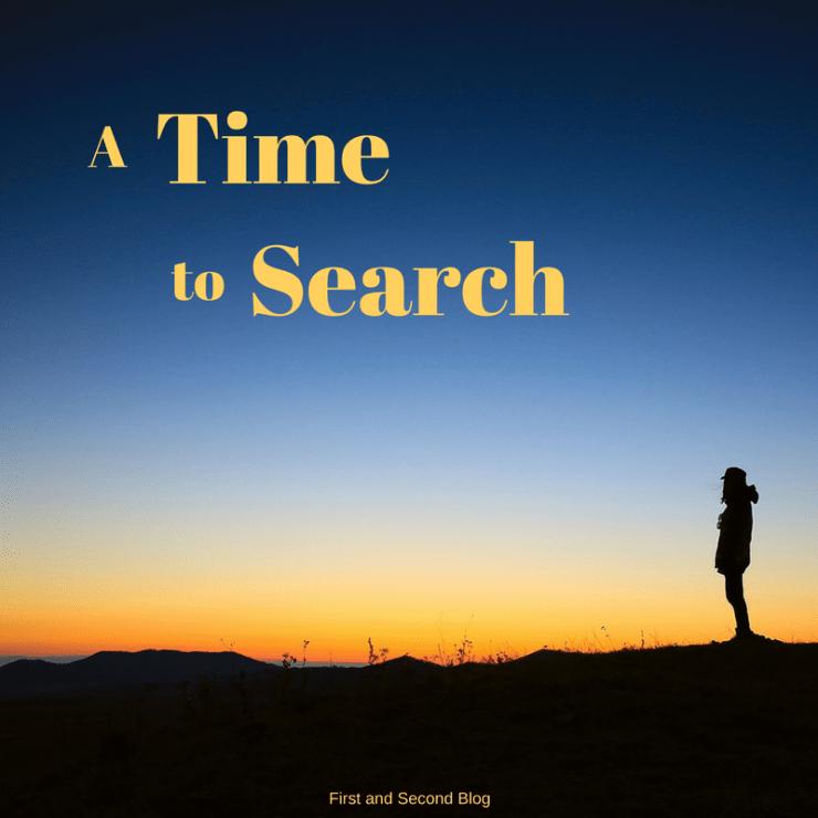 Cease Striving and Start Seeking