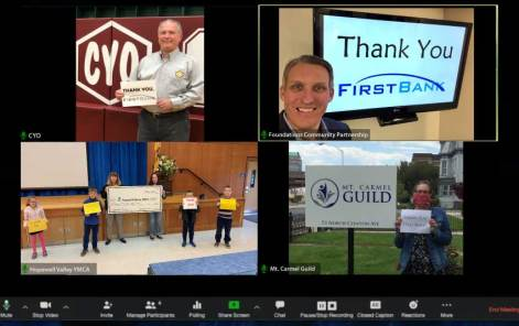 images of non-profits thanking First Bank
