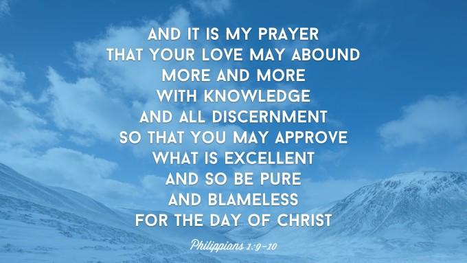 Philippians 1:9-10