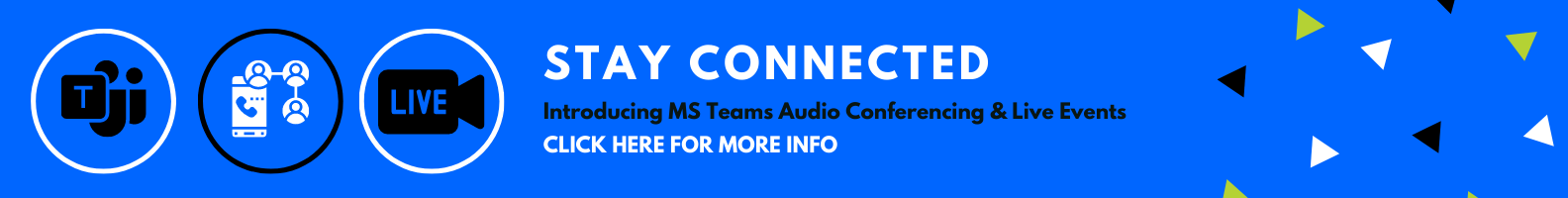 MS Teams Audio Conferencing and Live Events