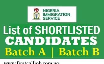 Nigeria Immigration Service NIS List