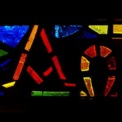 Stained Glass alpha and omega