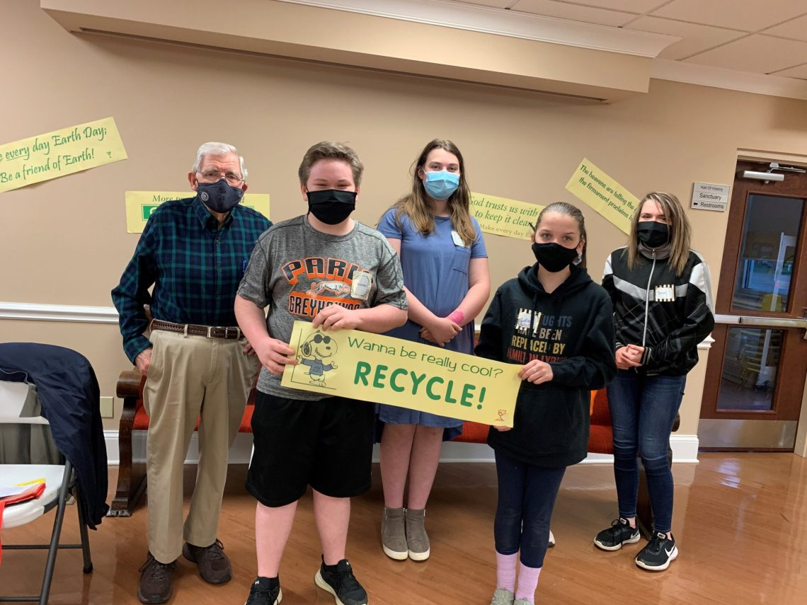 Mr. Hanna cam and talked to youth about recycling