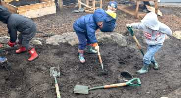 Dirt digging on the Nature Classroom