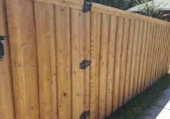 outside fence after