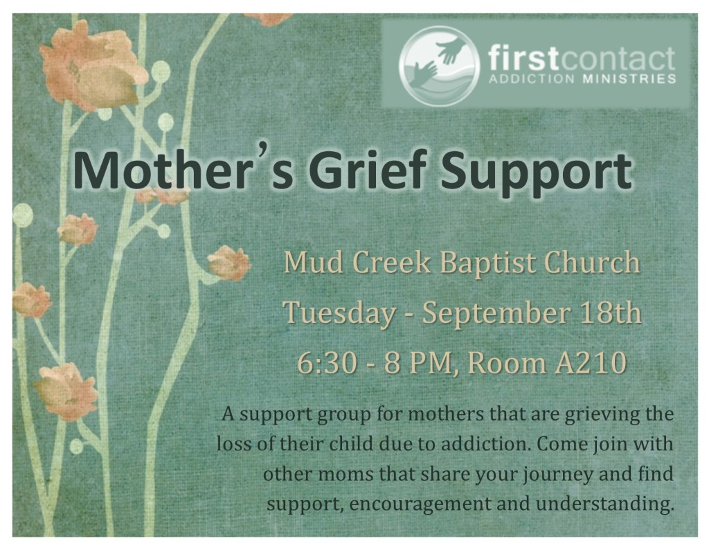 First Contact has a new Grief Support Group for Mothers