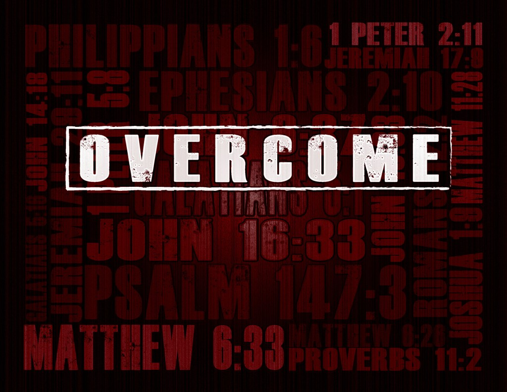 """""""Overcome"""" - Recovery Curriculum by Joshua Staton. Used by First Contact Ministries as part of their addiction / recovery support group curriculum."""