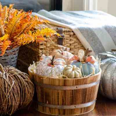How to Upcycle Foam Pumpkins with Paint and Decoupage