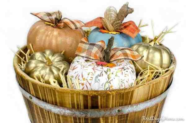 Upcycled dollar store foam pumpkin tutorial