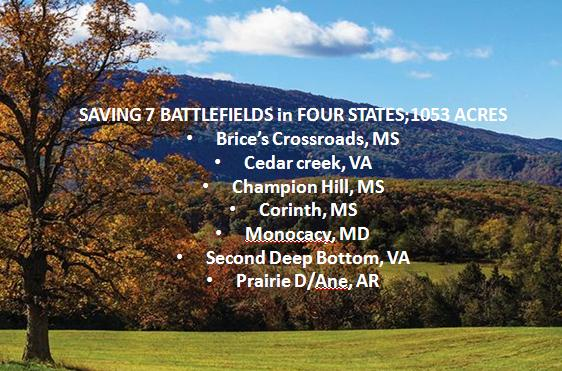 Preserving 7 Battlefields in 4 States: Saving 1053 Acres