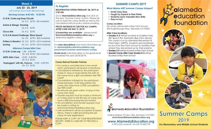 Brochure design for Alameda Education Foundation