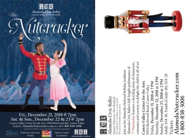 Design for ACB Nutcracker postcard