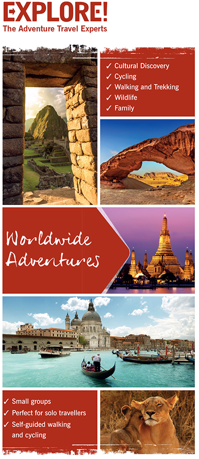 Explore Worldwide travel show banner