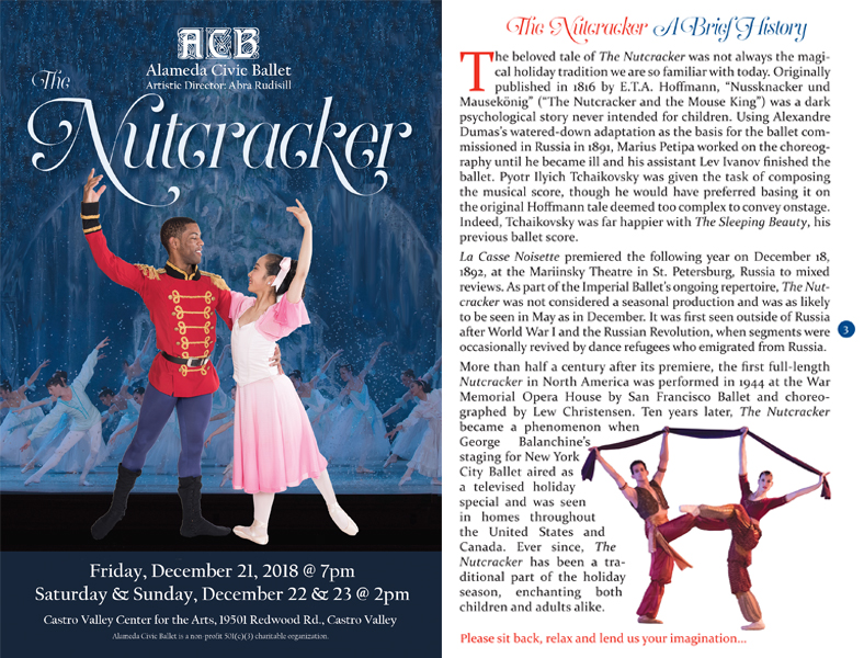 Event program for The Nutcracker