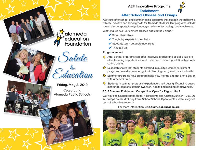 Program design AEF Salute to Education