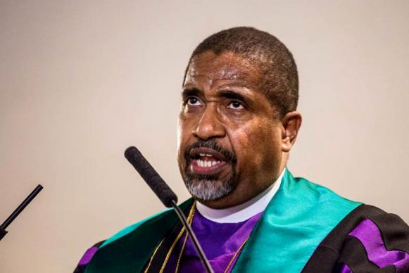 "CME Bishop Lawrence Reddick said the objectives of the ""Liberty and Justice for All"" campaign include criminal justice reform, education reform, economic justice, gun safety reform, and voting rights."