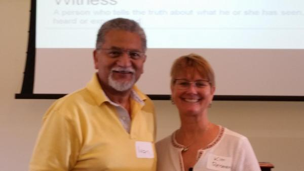 General Secretary Ivan Abrahams and World Methodist Evangelism director, Dr. Kimberly Reisman.