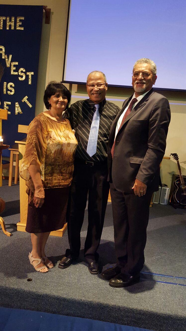 Bishop Abrahams, Rev van Eck & Hazel van Eck