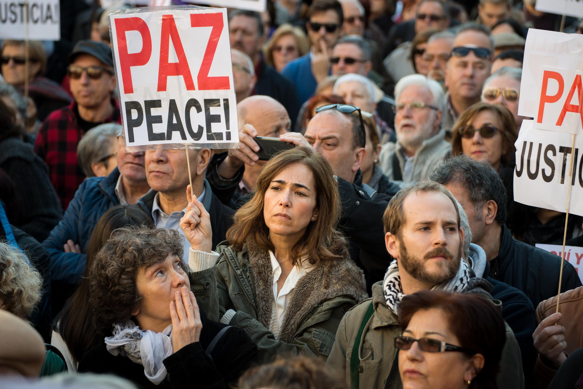 madrid-protestors