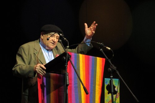 Pagura preaching at the opening of the 6th Assembly of CLAI, held in Havana, Cuba, in 2013. © Marcelo Schneider/WCC