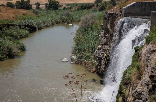 The Jordan and Yarmouk Rivers at Naharayim in the Jordan Valley