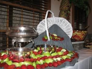 Caramel Apple and Chocolate Strawberry Fondue
