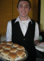 Colin with the BBQ Sliders