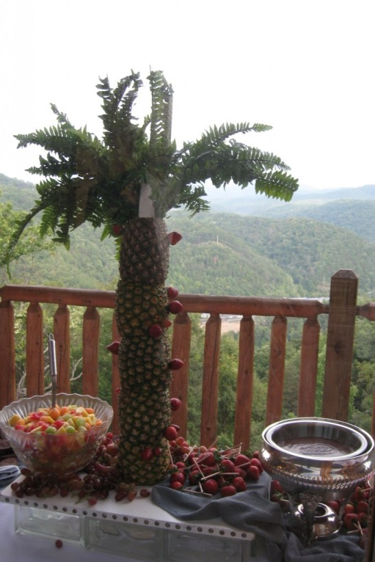 Fruit Fondue on the Balcony