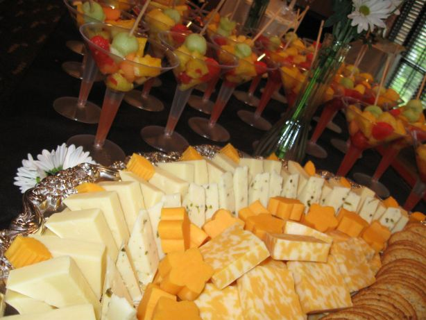 Gourmet Cheeses Display