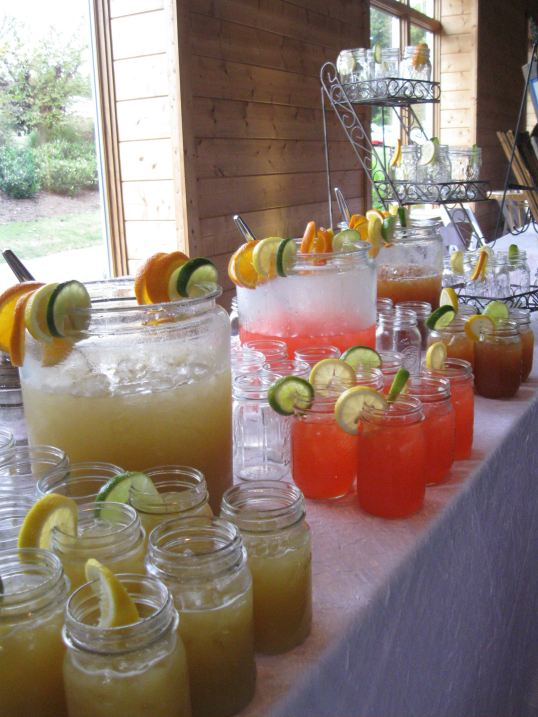 Mason Jar beverage Station