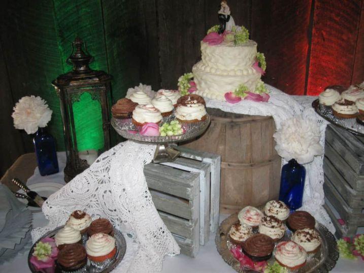 Vintage Cupcake Buffet