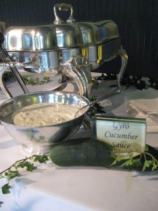 Gyro cucumber sauce