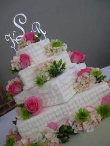 Square Basketweave Buttercream Vanillabean Knoxville, TN Wedding Cake