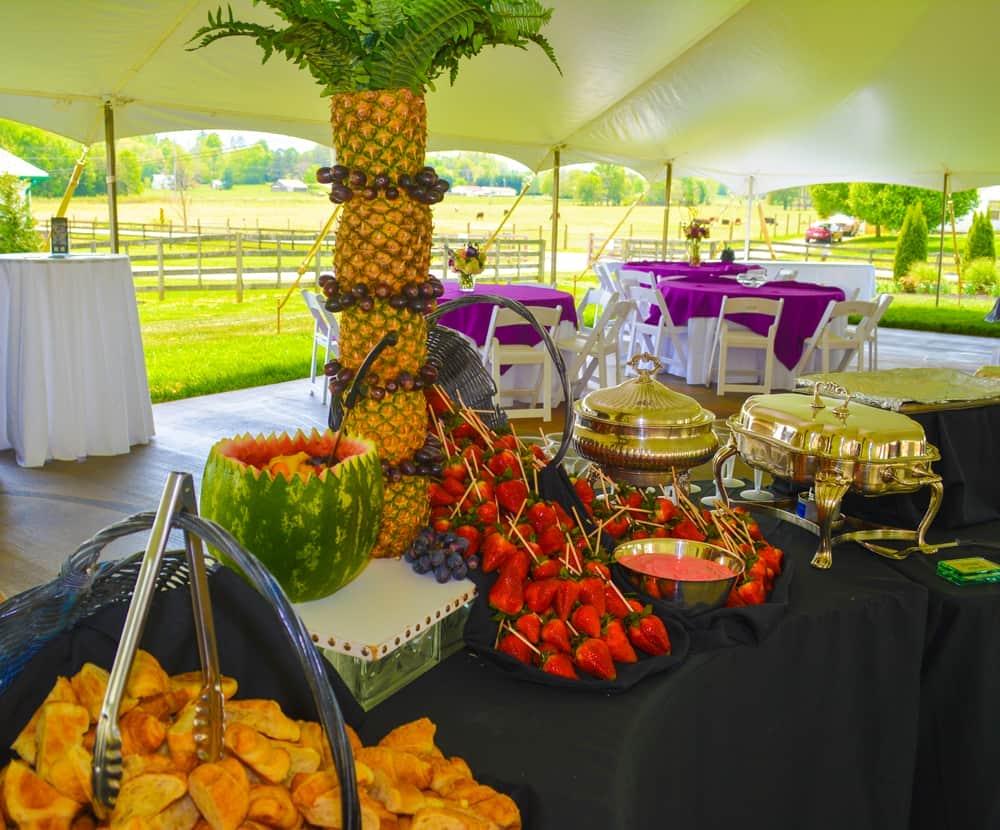 Fresh Fruit Fondue Catering Display