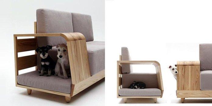 Multifunctional sofa pet house ideas