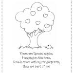 Apple Finger Paint Poem FREEBIE!