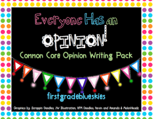 Opinion Writing for Common Core and Freebie