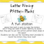 Pattern Block Letter Naming