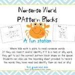 Observations and Nonsense Word Pattern Blocks!