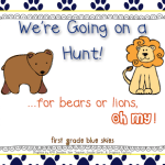 We're Going on a Bear Hunt Freebie Pack!