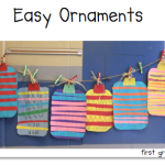 Easy (so much cuter in real life) Ornament Freebie